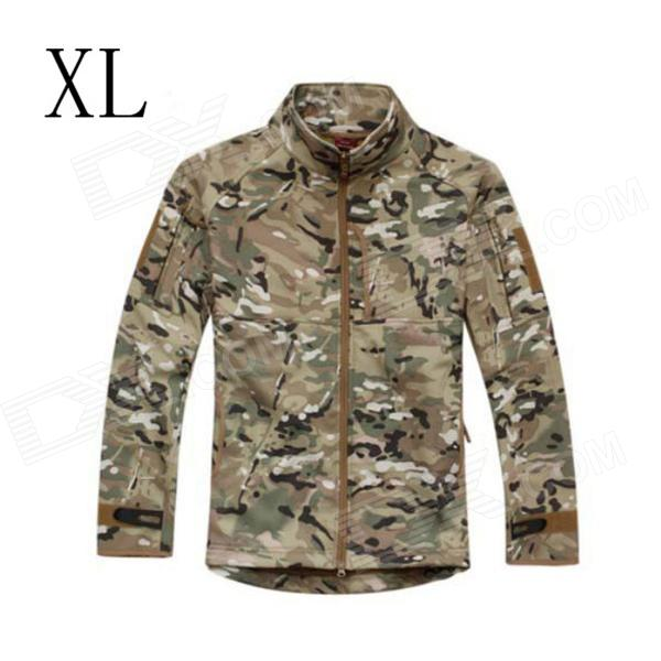 ESDY ESDY-0107 Commander Outdoor Sports Waterproof Warm Polyester Jacket for Men - Camouflage (XL) outdoor genuine lady pink ski suit camouflage waterproof windproof jacket cotton 1410 018 women wear
