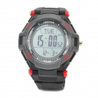 Spovan Mingo-II-Red Sport Quartz Digital Wrist Watch - Black + Red