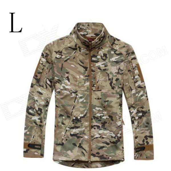 ESDY ESDY-0107 Commander Outdoor Sports Waterproof Warm Polyester Jacket for Men - Camouflage (L) outdoor genuine lady pink ski suit camouflage waterproof windproof jacket cotton 1410 018 women wear