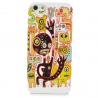 Protective Cartoon Pattern PC Back Case for iPhone 5 - White + Yellow + Black