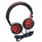 HAVIT HV-H83D 3D Stereo Cool Skull Style Headphones w/ Big Ear Pad - Red + Black (3.5mm Plug)