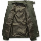 Men's Casual Cotton Zippered Jacket Coat - Army Green (XL)