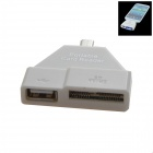 Portable Smart Micro USB SD/TF/M2 Card Reader for Samsung Galaxy S3 / S4 / Note 2 / Note 3 - White