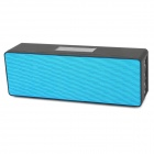 N16 Stylish Bluetooth V3.0 Audio Music Speaker Player w/ TF Slot - Black + Blue