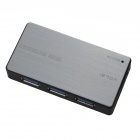 NF030 5Gbps High Speed USB 3.0 4-Port HUB - Light Grey + Black