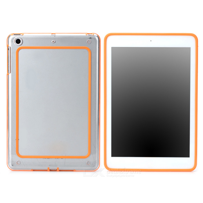Protective ABS + Silicone Bumper Frame for Ipad MINI / Retina Ipad  Mini - Orange + Transparent protective abs silicone bumper case for ipad mini retina ipad mini purple transparent