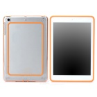 Protective ABS + Silicone Bumper Frame for Ipad MINI / Retina Ipad  Mini - Orange + Transparent