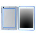 Protective ABS + Silicone Bumper Frame for Ipad MINI / Retina Ipad  Mini - Blue + Transparent