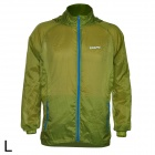 Outto #009A Ultrathin Cycling / Running Polyester Jacket for Men - Blue + Army Green (L)
