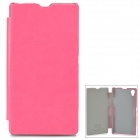 KALAIDENG England Series Protective PU Leather Case for Sony Xperia Z1 L39h - Deep Pink