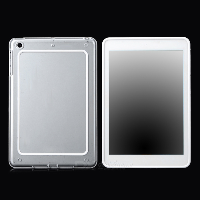 Protective ABS + Silicone Bumper Frame for Ipad MINI / Retina Ipad  Mini - Transparent + Translucent
