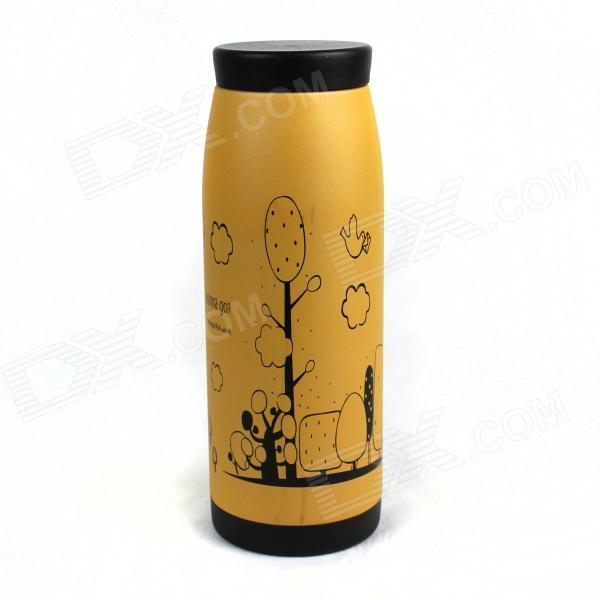Bachelor Stainless Steel Cup - Khaki + Black (350mL)