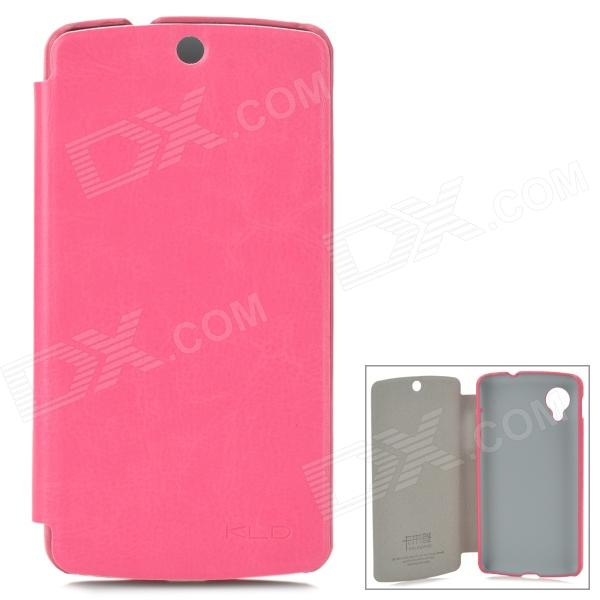 KALAIDENG England Series Protective PU Leather Case for LG Nexus 5 - Deep Pink - DXLeather Cases<br>Color Peach Brand KALAIDENG Model N/A Material PU leather Quantity 1 Piece Compatible Models LG Nexus 5 Other Features Protects your device from scratches dust and shock Packing List 1 x Protective case<br>