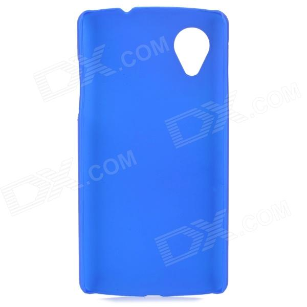 S-What Protective Frosted Plastic Back Case for LG Nexus 5 - Dark Blue