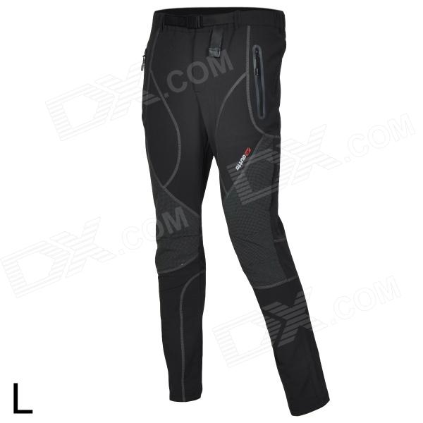 Outto Waterproof Casual Sport Polyester Pants for Men - Grey + Black + Multicolored (L)