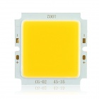 10W 85~95lm/W 3100K Warm White COB LED Square Light Source Module - Yellow + Silver (DC 29~35V)