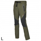 Outto Waterproof Casual Sport Polyester Pants for Men - Army Green + Black (L)