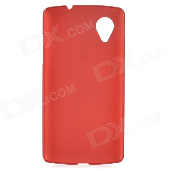 S-What Protective Frosted Plastic Back Case for LG Nexus 5 - Red
