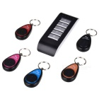 Upgraded 1-to-5 Remote Control Key Finder Keychain Set - Black (1 x 23A / 1 x CR2032)