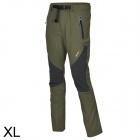 Outto Outdoor Sports Waterproof Polyester Ninth Pants for Men - Khaki + Black (XL)