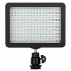 Universal 12W 5600K 1280lm 160-LED Video Light w/ Filters - Black (6 x AA)