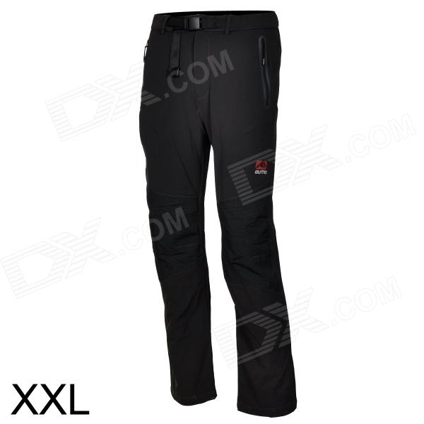 Outto Outdoor Sports Waterproof Polyester Pants for Men - Grey + Black (XXL)