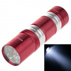 Small Sun ZY-8857 200lm 6000K 9-LED White Flashlight - Red + Silver (3 x AAA Battery)
