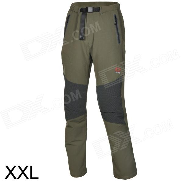 Outto Waterproof Casual Sport Polyester Pants for Men - Khaki + Black + Multicolored (XXL)