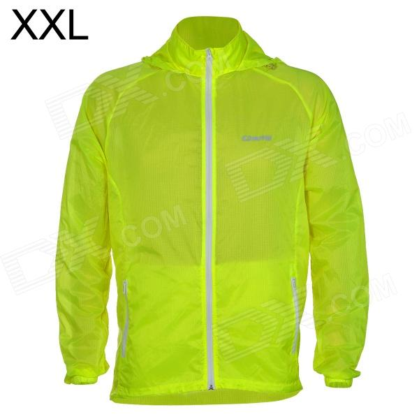 Outto #009A Ultrathin Cycling / Running Polyester Jacket for Men - Fluorescent Green (XXL)