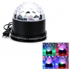 DR-XL-18 15W 3-LED + 48-LED RGB Light Magic Ball Laser Projector Lamp - White + Black (AC 90~240V)