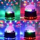 DR-XL-18 15W 3-LED + 48-LED RGB Ljus Magic Ball Laser Projektorlampa - Vit + Svart (AC 90 ~ 240V)