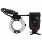 MK-14EXM 2.0'' LCD 9W 5500K 300lm LED Profession TTL Macro Ring Flash Light for Nikon DSLR - Black