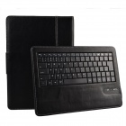 Detachable Wireless Bluetooth V3.0 84- Key Keyboard w/ PU Leather Case for ASUS Me302C 10.1 - Black