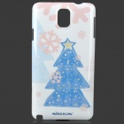 NILLKIN Wishing Tree Style Protective Case w/ Screen Film for Samsung Galaxy Note 3 - White + Blue
