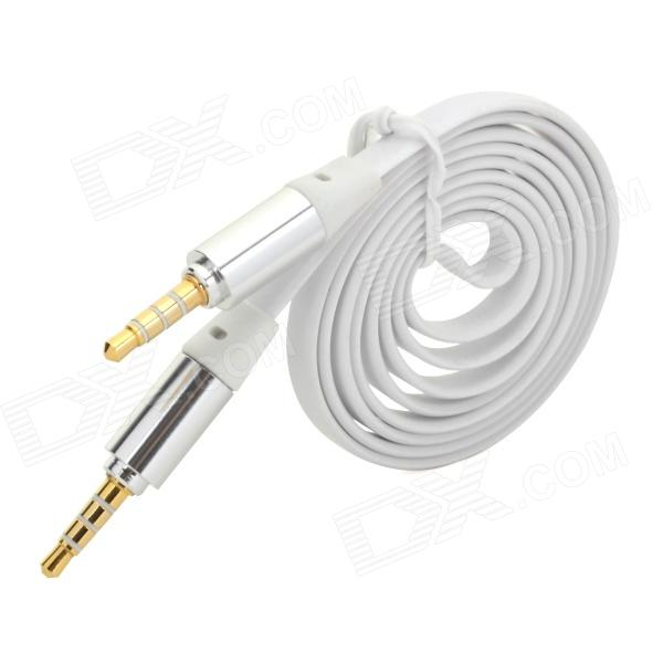 3.5mm Male to Male Audio Cable - White + Silver (102cm)