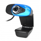 GUCEE HD50 Wired 5.0MP Webcam w/ Microphone - Black + Blue