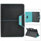 ROCK Protective PU Leather + PC Case w/ Auto Sleep for Samsung Galaxy Note 10.1 2014 Edition - Black