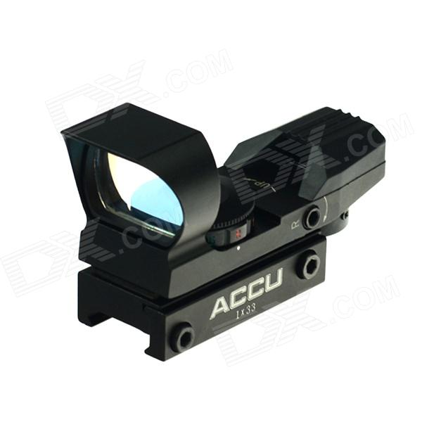 ACCU 1X 33mm 4-Mode Red / Green Dot Sight Rifle Scope w / Llave (1 x CR2032)