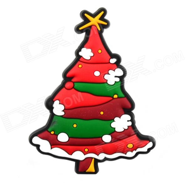 4.6 x 6.1cm Creative Christmas Tree Style Fridge Magnet Chalkboard Magnet Sticker - Red + Green