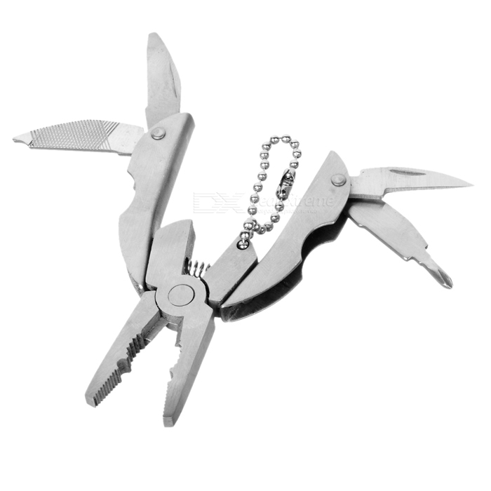 BZ02  5-in-1 Outdoor Camping Multifunctional Pliers Cutter Tool - White