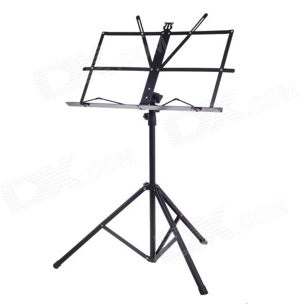 Adjustable Folding Music Stand with Carrying Bag - Black leshp 200mm folding height adjustable foot scooter two rounds wheels outdoor double damping push adult kick scooter from russia