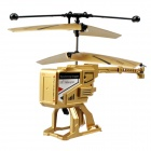 JH288 Mini Foldable 3.5-Channel Helicopter - Golden + Black
