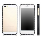 Crystal Decorated Metal Removable Bumper for Iphone 5S / 5 - Black