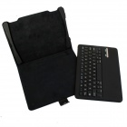 Detachable Bluetooth V3.0 64-Key Keyboard w/ PU Leather Case Cover Stand for Ipad AIR - Black