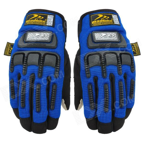 Madbike Motorcycle Cycling Gloves for Touch Screen - Black + Blue (Size XL / Pair)