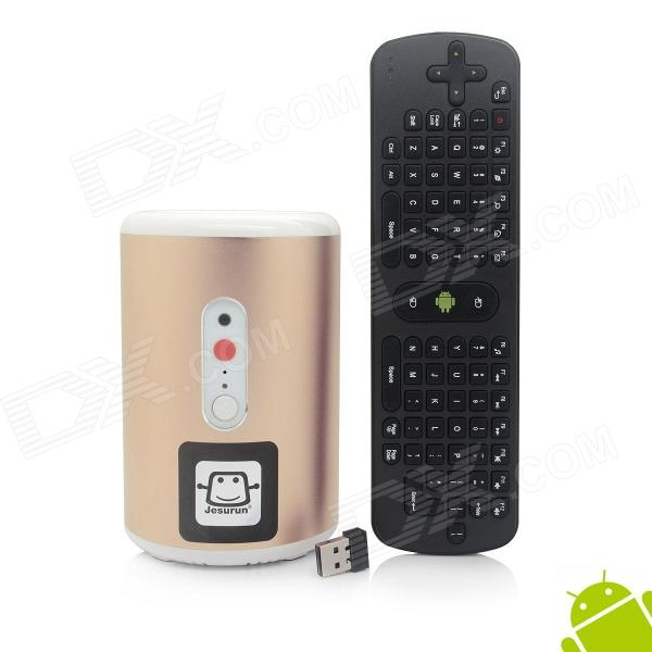 Jesurun Q8 + RC11 Air Mouse Quad-Core Android 4.2.2 Google TV Player w / 2 GB RAM, 8 GB ROM, 2.0MP Cam