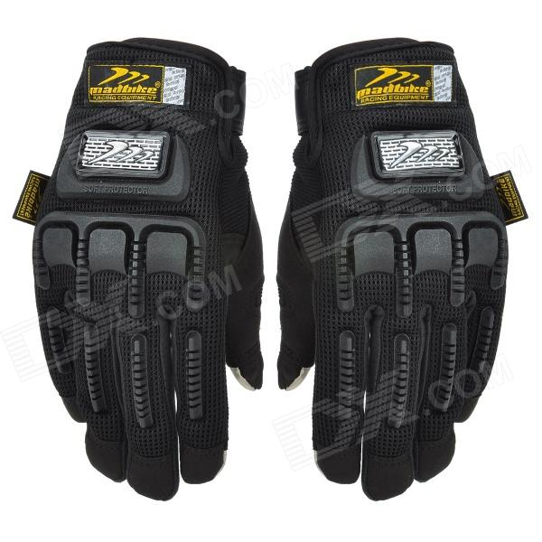 Madbike Motorcycle Cycling Gloves for Touch Screen - Black (Size L / Pair)
