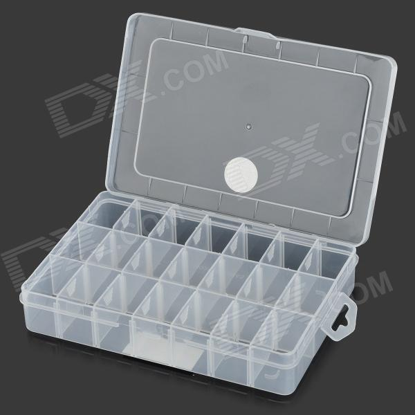 WLXY WL-1211 PP Adjustable Storage Case - White + Translucent White