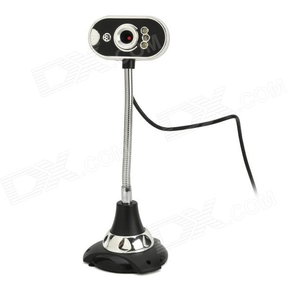 USB 2.0 3.0MP COMS PC Camera w/ Mic / 3-LED Lamp