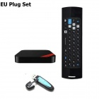 Ourspop XII+F10-Pro Air Mouse Quad-Core Android 4.2.2 Google TV Player w/ 2GB RAM, 8GB ROM, EU Plug